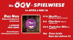 ÖQV-Spielwiese: Popkultur-Quiz @ Das Nax