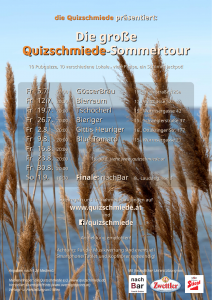 "WIEN: ""Quizschmiede""-Sommertour @ TBA"